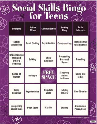 This bingo game teaches teens valuable social skills to help them have more ...
